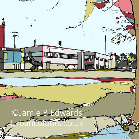 Print of Scunthorpe United FC's Glanford Park image of