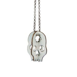 Day of the Dead Enamel Skull 28 Necklace Grainne CAT