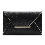 Glitter Sequined Envelope Shaped Evening Wear Clutch