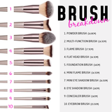Soft, High-Quality Makeup Brushes with Wood Handles
