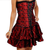 Sexy Burlesque-Style Corset Dress in Regular and Plus Sizes - S, M, L, XL, XXL, XXXL