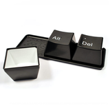 Keyboard Ctrl ALT DEL Tea/Coffee Mugs, 3-piece Set + Tray