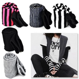 Long Sleeve, Stretchy and Soft Arm Warmers Fingerless Gloves w/ Thumb Hole