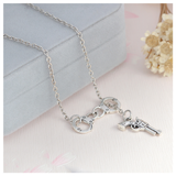 Gun and Handcuffs Chain Necklace