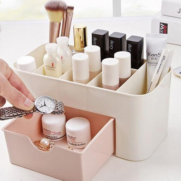 Makeup Organizer Box with Drawer