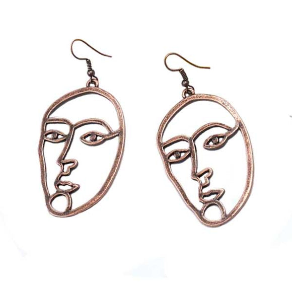 Picasso Style Over-Sized Face Earrings