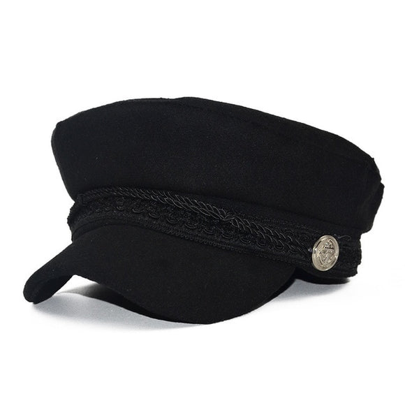 British Style Warm Wool Newsboy Cap in Various Colors