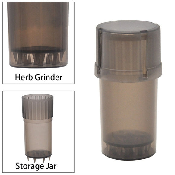 3-in-1 Weed/Tobacco Grinder, Pollen Catcher, Plastic Storage Case Accessory