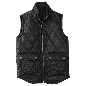 Slim & Sleeveless Zip-Up Quilted Winter Vest Sizes S-XXXL