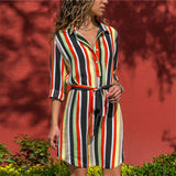 Long Sleeve Casual Button Up Shirt Dress in Various Designs