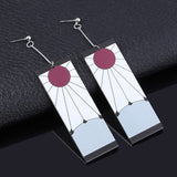 Tanjiro Hanafuda Earrings Japanese Anime Demon Slayer