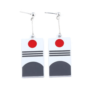 Tanjiro Hanafuda Earrings Japanese Anime Demon Slayer Earrings