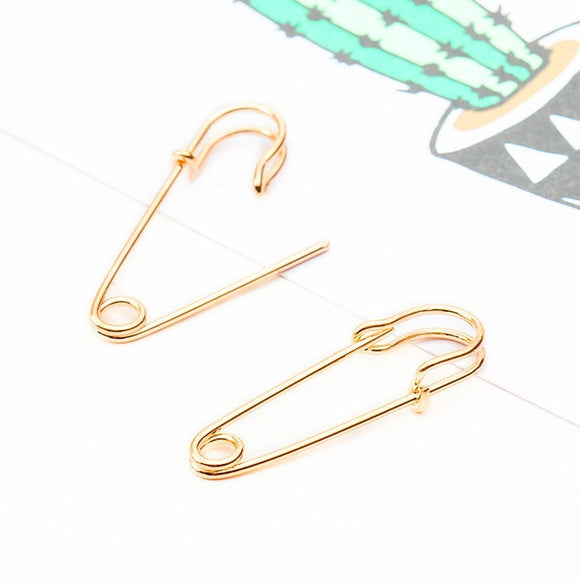 Badass Bad Girl Safety Pin Earrings