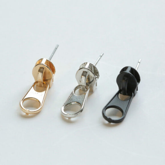 New Punk Style Zipper Stud Earrings