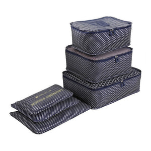 6-Piece Waterproof Storage Bags for Cosmetics and Clothing