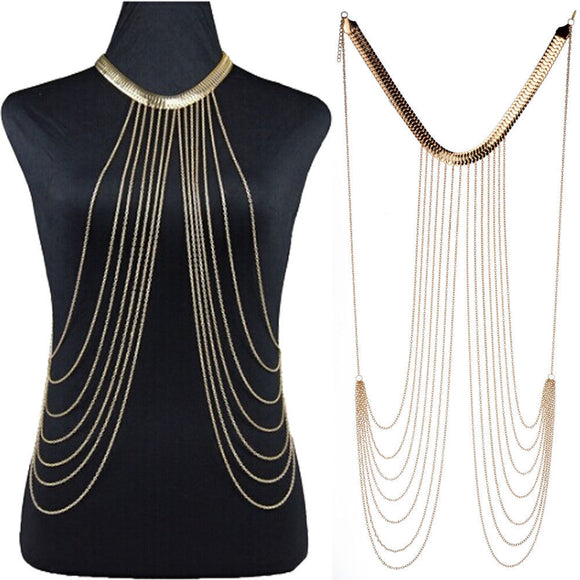 Multi-Layer Collar Choker Body Chain