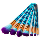 Easy-Grip Diamond Handled Makeup Brush Sets, 4pc/7pc/10pc