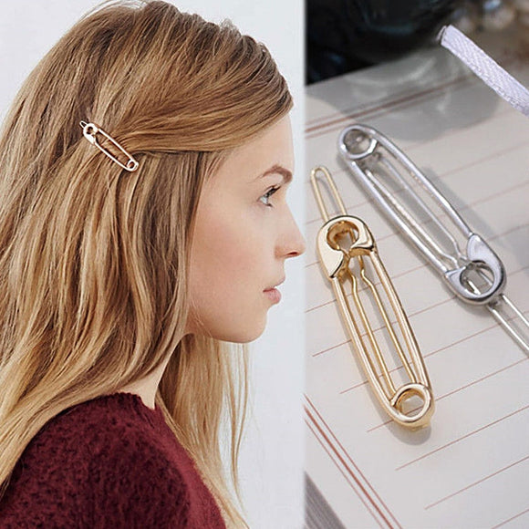 Fun and Flirty Safety Pin Hair Clip