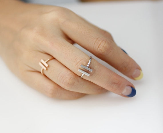 Open Double Bar Adjustable Ring