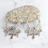 Tibetan Inspired Filigree Dangle Earrings