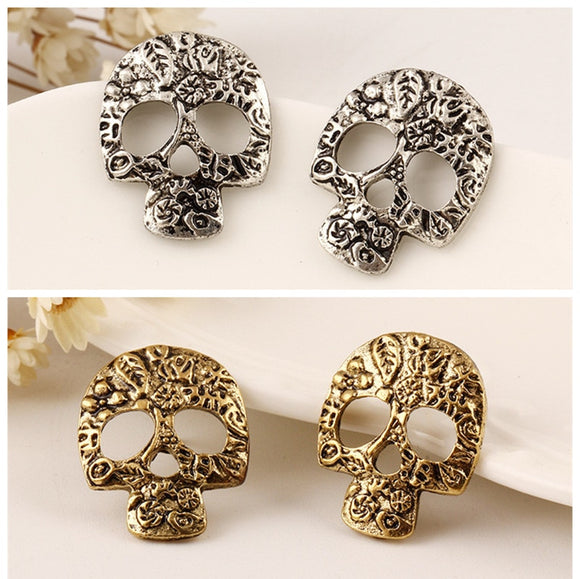 Bad Girl Style Skull Stud Drop Earrings