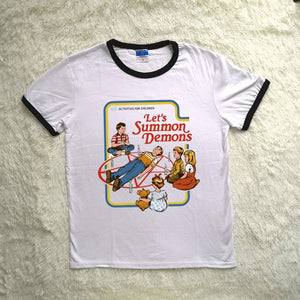"""Let's Summon Demons"" Graphic T-Shirt"