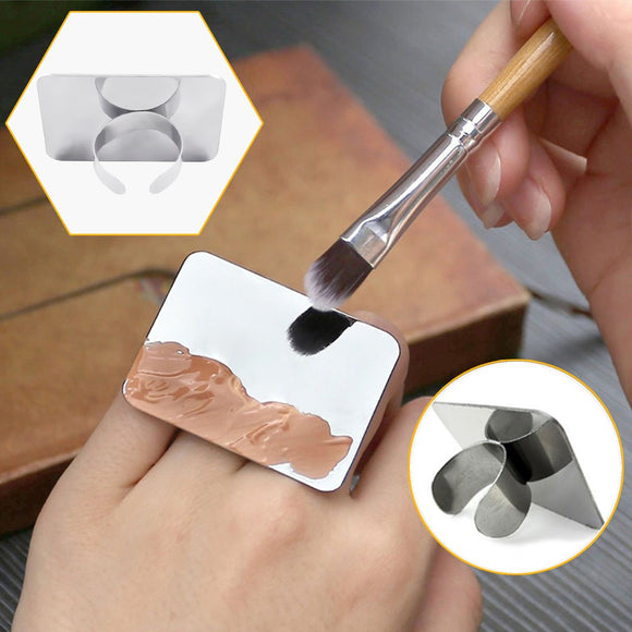 Liquid Makeup Mixing Palette Ring, Stainless Steel