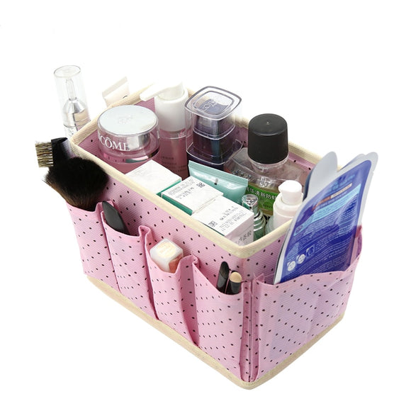 Cute Dots Cosmetic Makeup Organizer and Storage Box