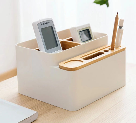 Simple Japanese-Style Bamboo Desktop Organizer