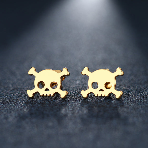 Skull & Crossbones Stud Earrings