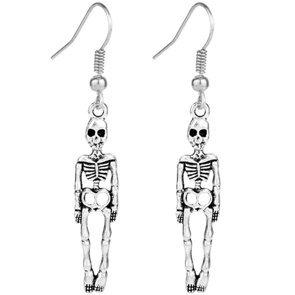 Dangling Skeleton Earrings