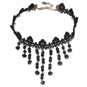 Gothic Style Black Lace Choker Necklaces in Various Styles