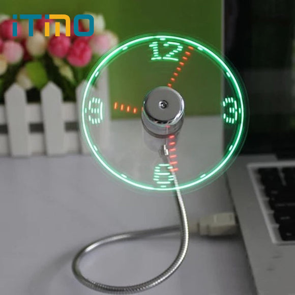 USB Light-Up Floating LED Fan Clock