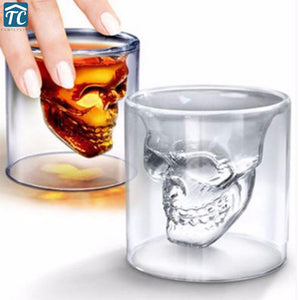 Smiling Skull Shot Glass, Double Layer, 4-piece Set, 25ml