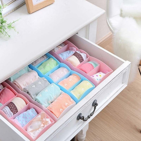 5-Grid Drawer Storage Box Organizer for Socks, Bras, Underwear