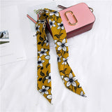 Graphic Print Silky and Skinny Bad Girl Scarves