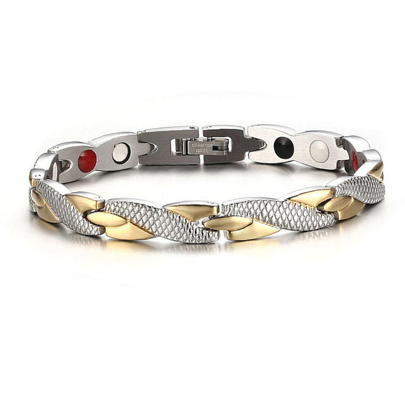 Twisted Metal Magnetic Energy Therapy Bracelet