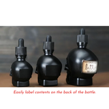 Glass Skull Eye Dropper Bottle in 3 Sizes and 7 Colors