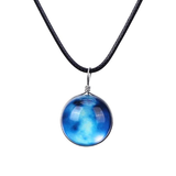 Luminous Glow in the Dark Space-Themed Pendant Necklaces
