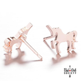 Small Unicorn Stainless Steel Stud Earrings