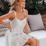 Ruffled Boho Spaghetti Strap Summer Beach Dress