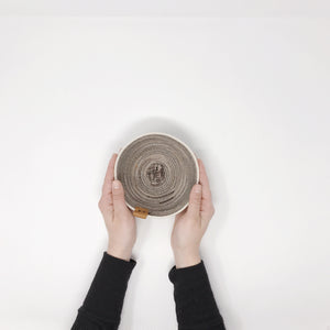 Pewter and Brown Small Bowl