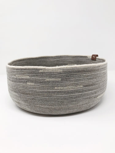 Pewter and Ivory Large Basket