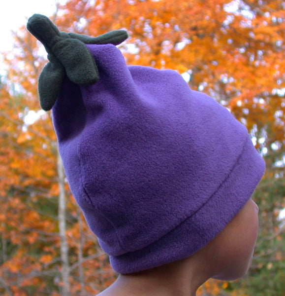 Eggplant hat - Beanie Pod Collection