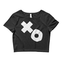X&O Women's Crop Tee Black