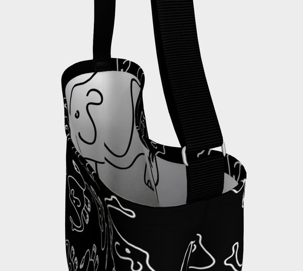 Jungleopia Black and White Smaller Elephant Tote