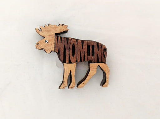 Wyoming Moose Magnet