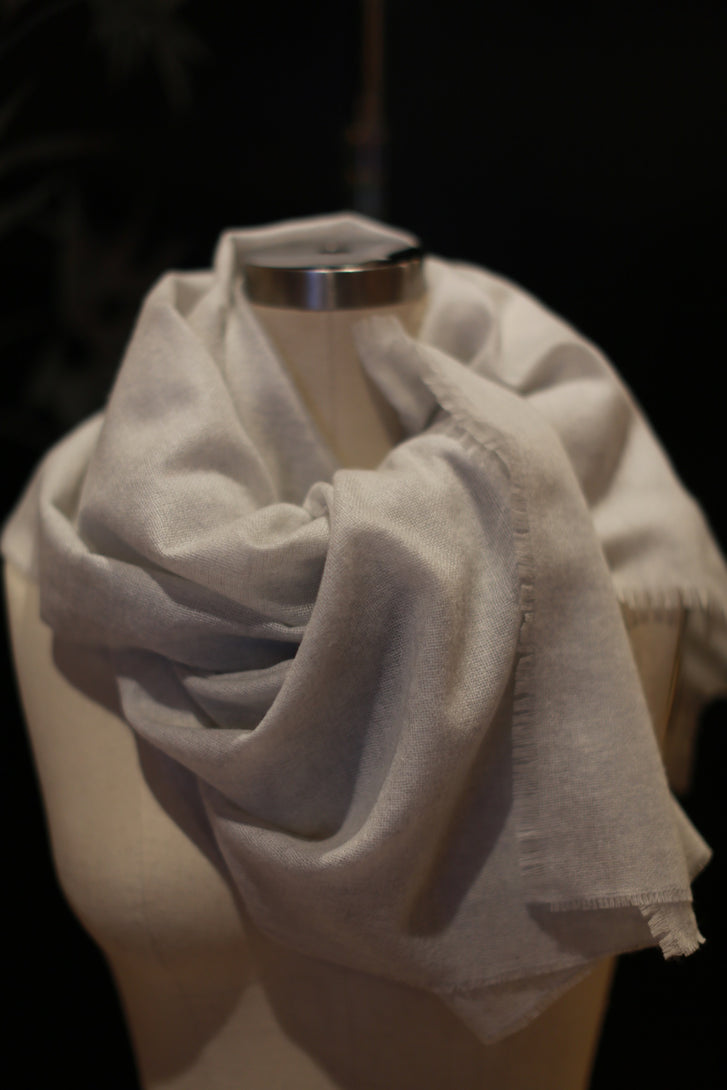 Tissue Weight Cashmere Scarf | Mist