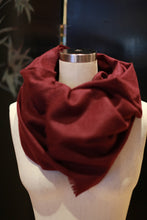 Load image into Gallery viewer, Tissue Weight Cashmere Scarf | Burgundy