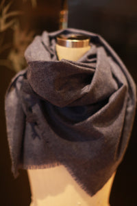 Tissue Weight Cashmere Scarf | Indigo